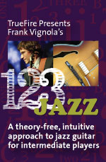 A theory-free, intuitive approach to jazz guitar for intermediate players
