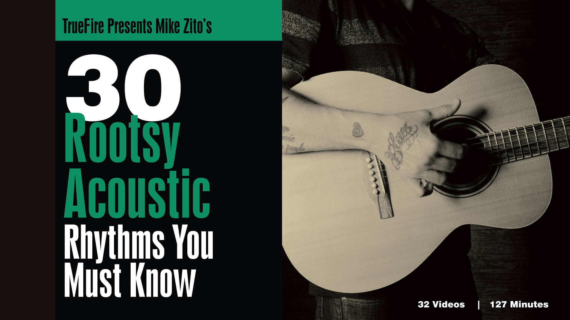 30 Rootsy Acoustic Rhythms Guitar Lessons Mike Zito Truefire