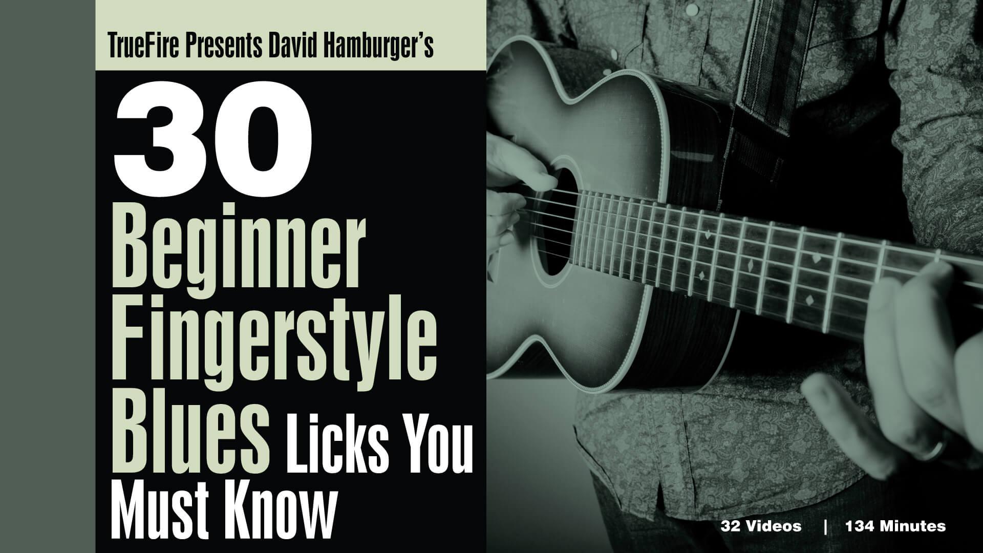 30 Beginner Fingerstyle Blues Licks - Guitar Lessons - David Hamburger -  TrueFire
