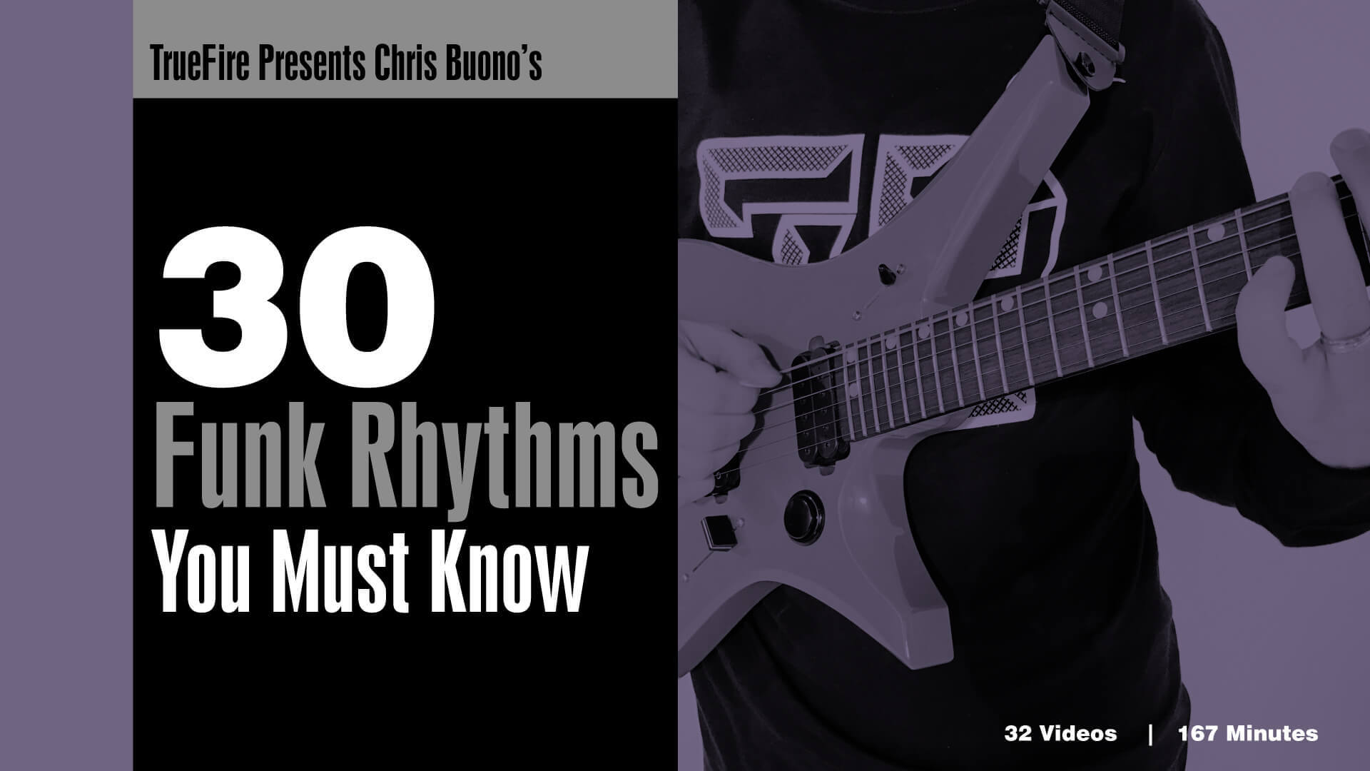 30 Funk Rhythms - Guitar Lessons - Chris Buono