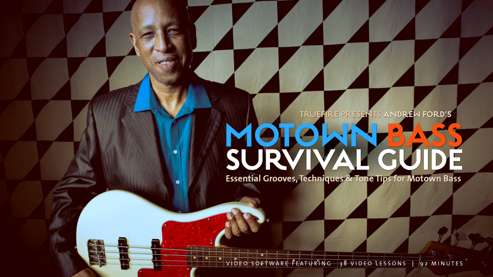 Motown Bass Guitar Lessons - Andrew Ford - TrueFire