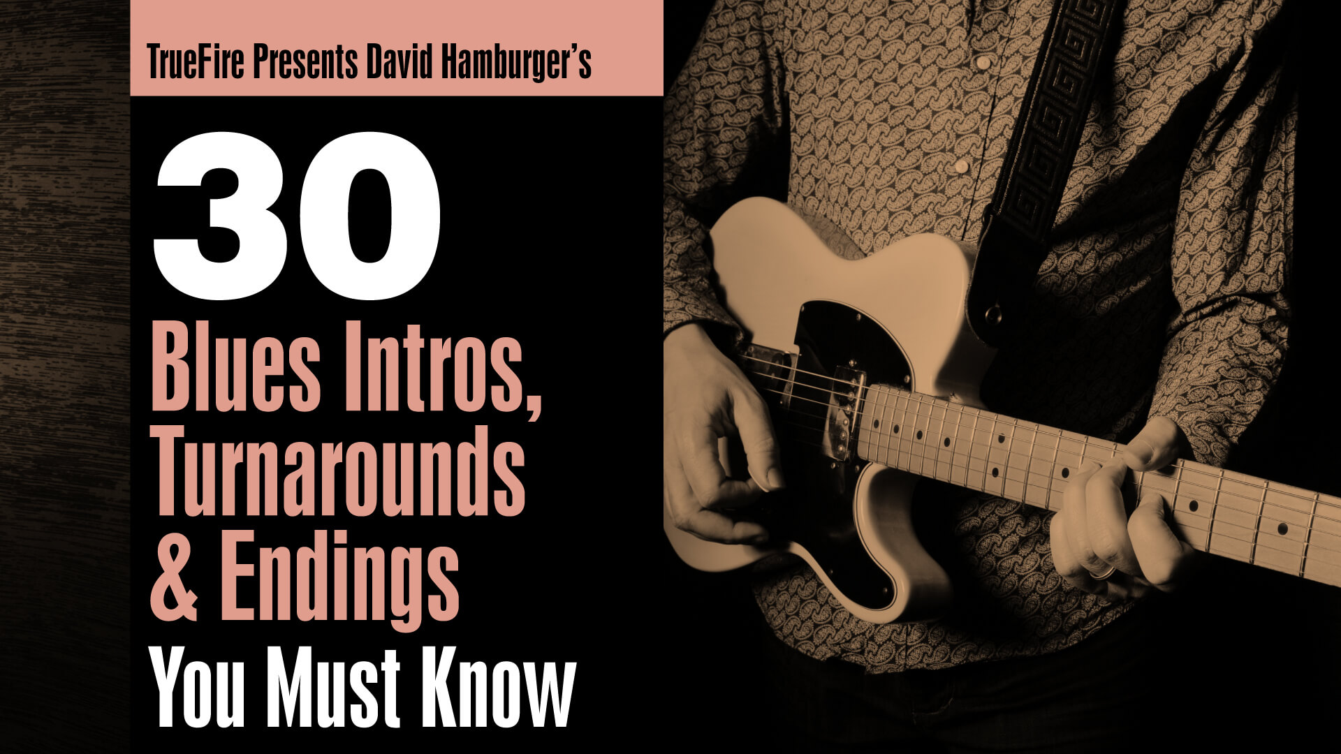 30 Blues Intros, Turnarounds, & Endings - Guitar Lessons - David Hamburger  - TrueFire