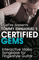Interactive songbook for fingerstyle guitar. Learn how to play 5 classic Tommy tunes!