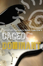 Improvisation guide and fretboard navigation for dominant 7th chord progressions