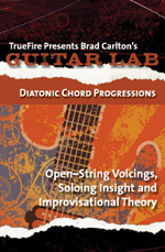 Open-string voicings, soloing, insight and improvisational theory