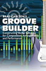 Constructing guitar grooves for composition, arrangements and performances.