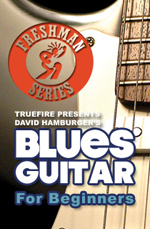 Learn to play electric blues riffs, chord and rhythms