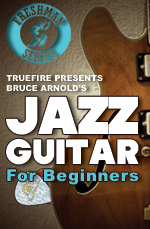 Learn to play jazz riffs, chord and rhythms
