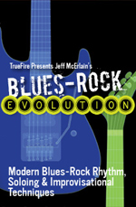 Modern blues rock rhythm, soling and improvisational techniques