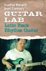 Intensive examination of Latin rock rhythm guitar