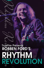 Master class for blues rhythm guitar with Robben Ford