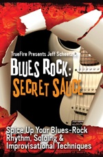 Spice up your blues rock rhythm, soloing and improvisational chops