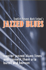 Contextual approach to jazz blues guitar phrasing and soloing