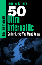A comprehensive collection of intervallic approaches for rock guitar