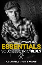 Performance studies focused on the essential harmonic and technical characteristics of solo electric blues