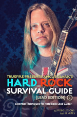 Essential soloing techniques for hard rock lead guitar.