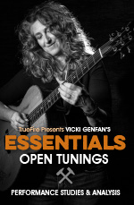 Performance studies focused on the essentials of open tunings